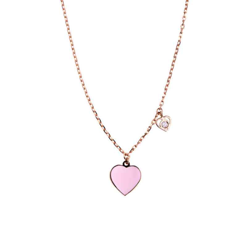 Collier Pompanon Amore Nana Or Rose et Diamant FCO21319