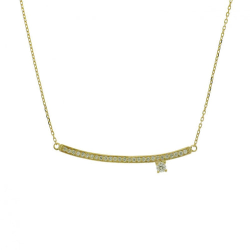 Collier Sweet Paris en or jaune serti de diamants