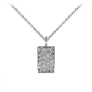 "Collier en or blanc 18 carats Pendentif Pavé de Diamants ""You're so Sweet"" face A"