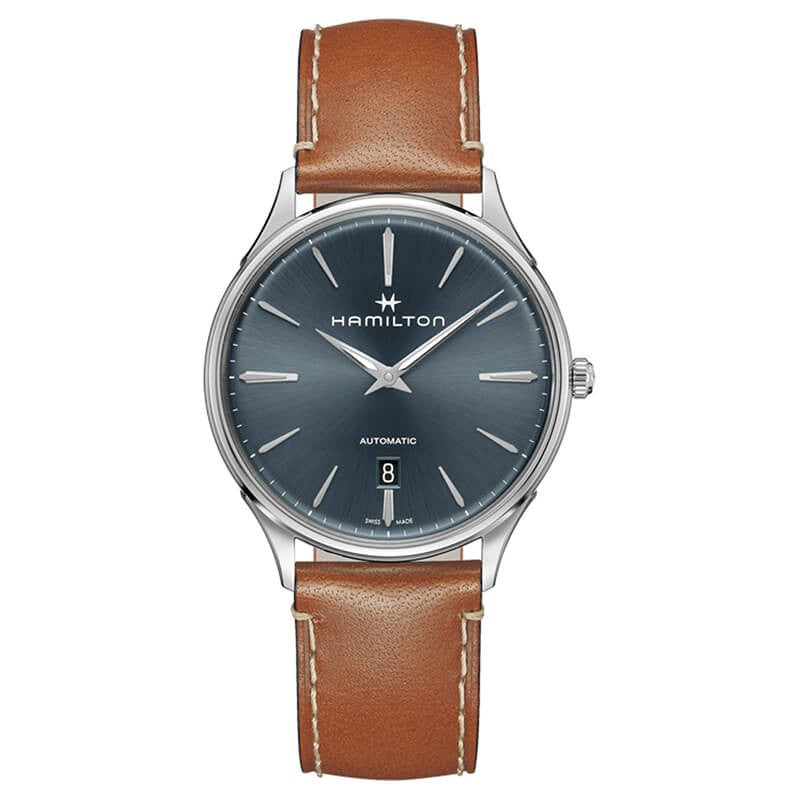 Montre Hamilton Jazzmaster Thinline Automatique bracelet cuir marron
