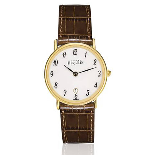 montre michel herbelin sonate pvd bracelet marron
