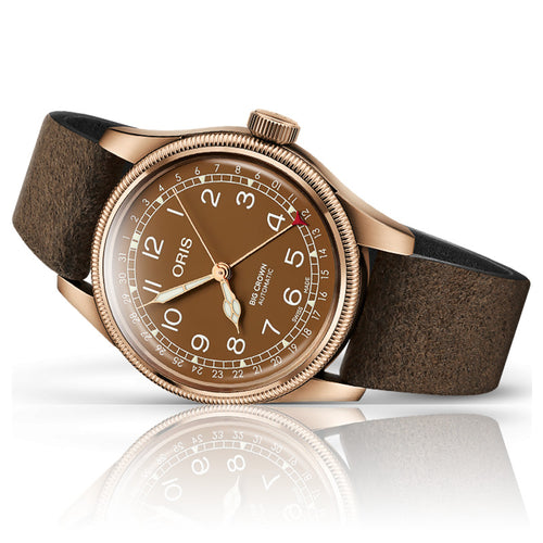 montre oris big crown couleur bronze de profil