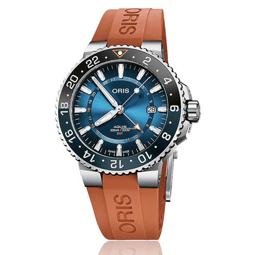 montre oris carysfort reef bracelet orange