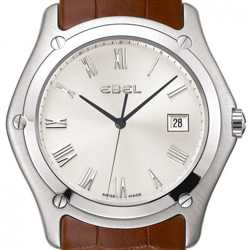 Montre Ebel Classic Homme date 3h zoom