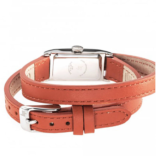 montre lip T13 bracelet orange double tour arriere