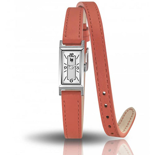 montre lip T13 bracelet orange double tour