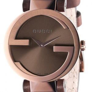 "Montre Gucci ""Interlocking"" PVD Bronze zoom"