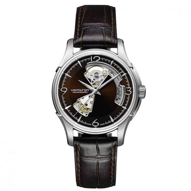 Montre Hamilton Jazzmaster Open Heart Automatique marron