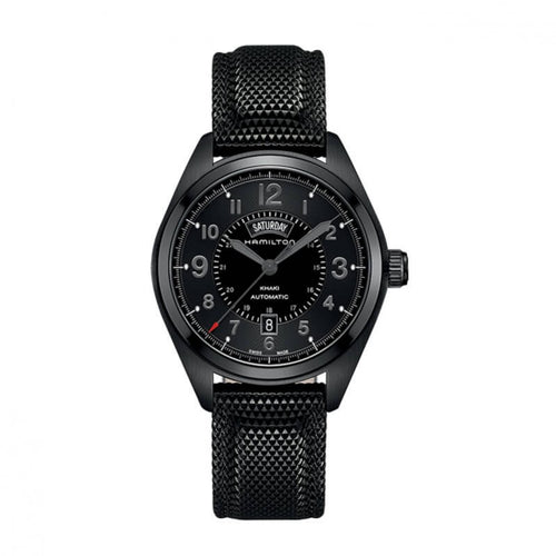 Montre Hamilton Khaki Field Day-Date Automatique PVD noir