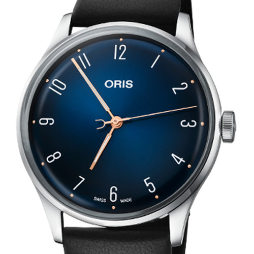 montre oris james morrison  academy of music cadran bleu zoom