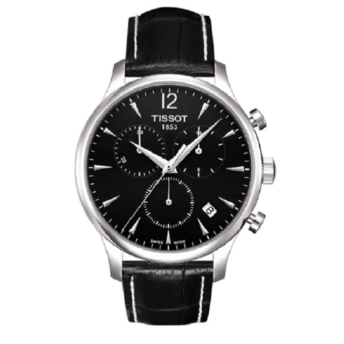 montre tissot tradition chronograph quartz noire