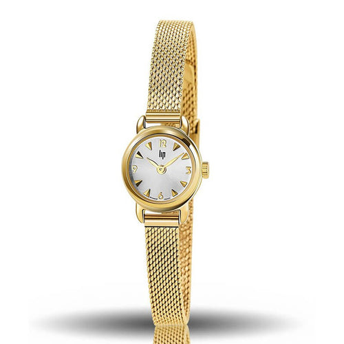 "Montre Lip Collection ""Henriette"" jaune 18,5mm"