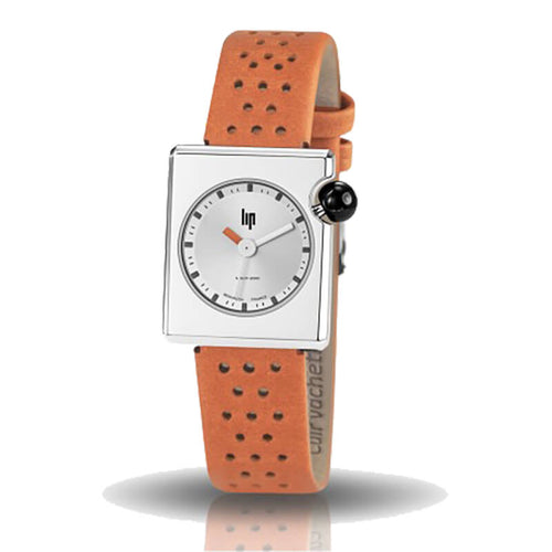montre lip mach 2000 mini square bracelet orange