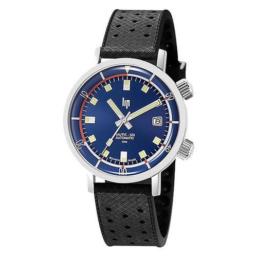 "Montre Lip Collection ""Nautic-Ski"" cadran navigateur bande rouge à 9h"