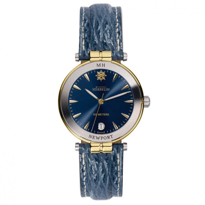 Montre Michel Herbelin Newport bracelet imitation requin