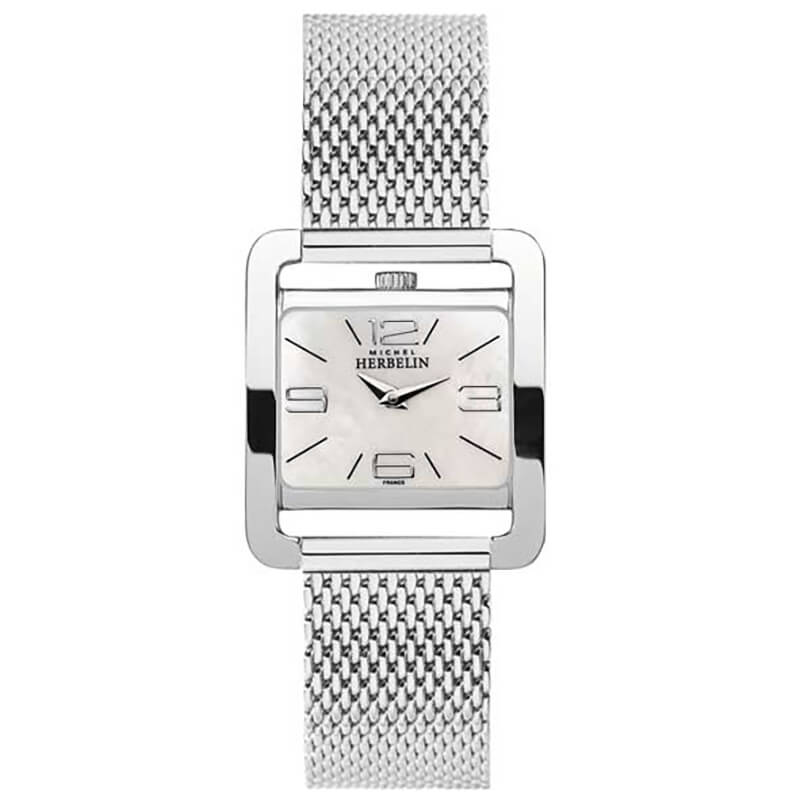 montre michel herbelin 5e avenue nacre