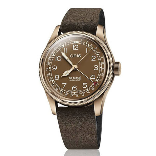 montre oris big crown couleur bronze