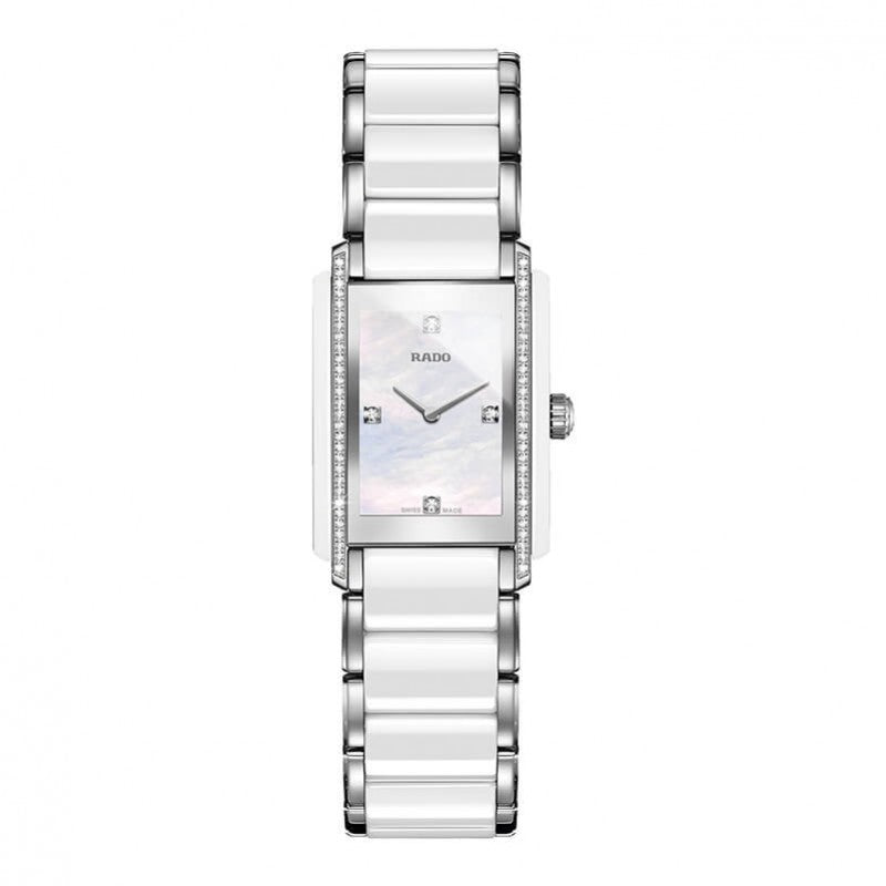 Rado Integral Quartz Diamants Nacre, Diamants et Céramique Blanche