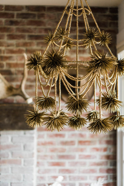 Handmade Gold Chandelier