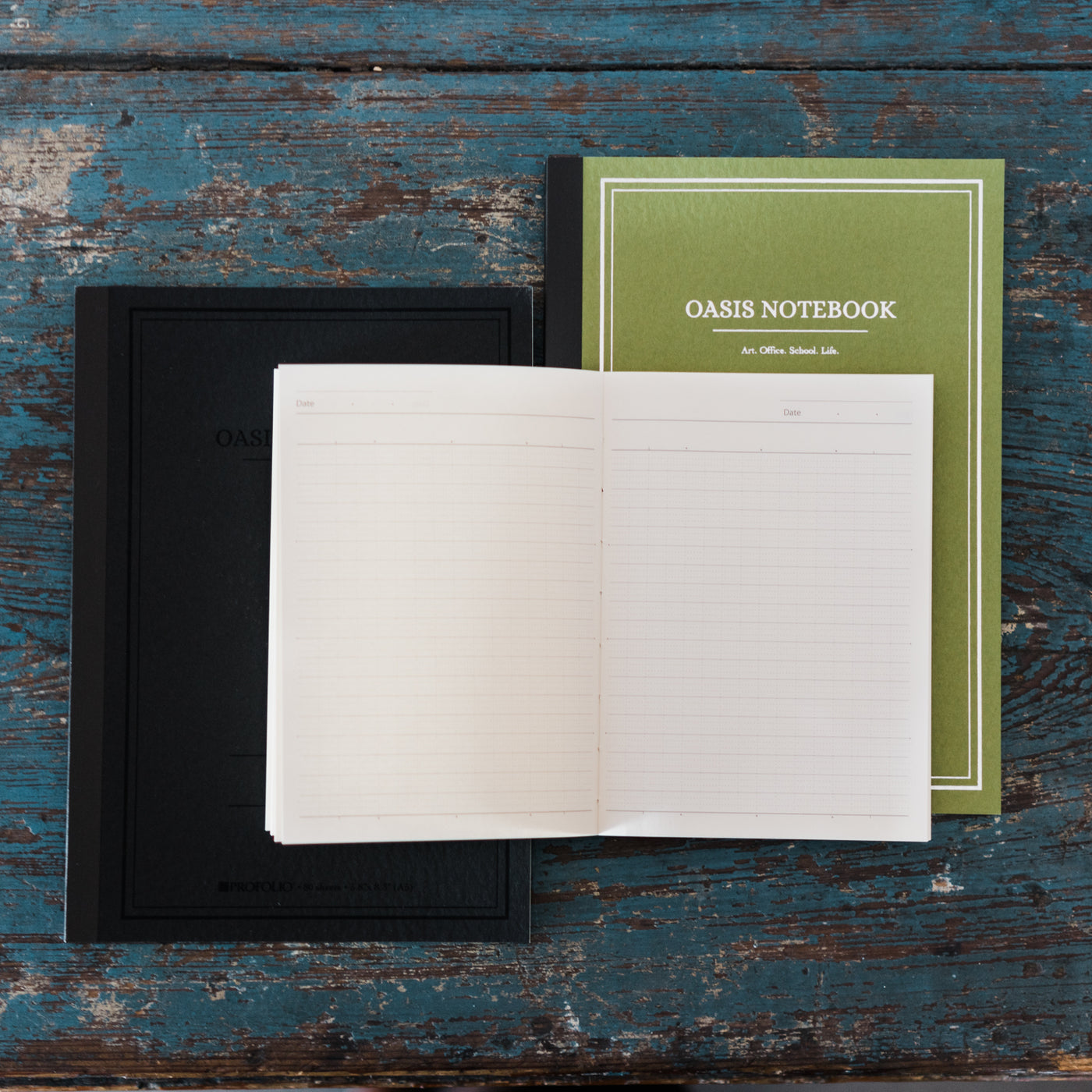 Oasis Japanese Notebook - Charcoal