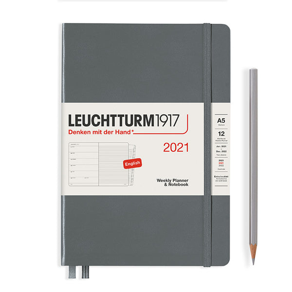 Leuchtturm 2021 Weekly Planner & Notebook - Medium (A5) Hardcover