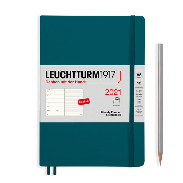 Leuchtturm 2021 Weekly Planner & Notebook - Medium (A5) Softcover