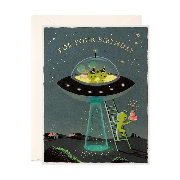 Aliens Birthday Card