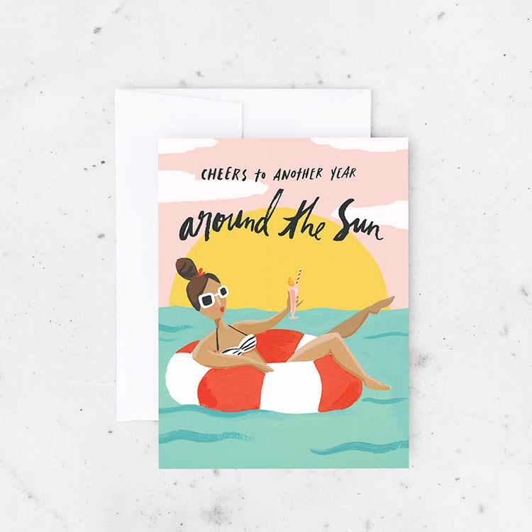 Pool Girl Birthday Card