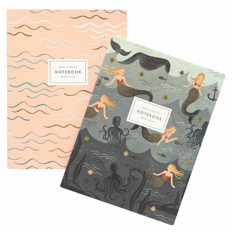 Set Of Two Notebook Mermaids