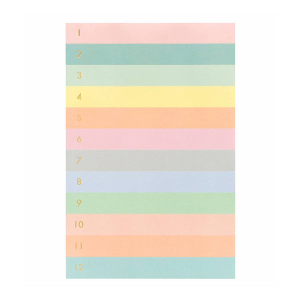 Numbered Color Block Tear-Off Notepad