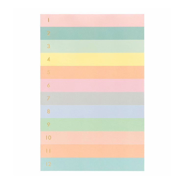 Rifle Paper Co. Numbered Color Block Tear-Off Notepad