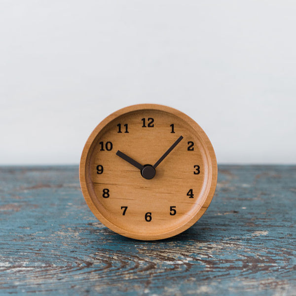 Lemnos Muku Desk Clock in Alder
