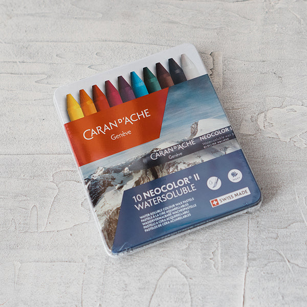 Caran d'Ache Neocolor II Water Soluble Wax Pastels