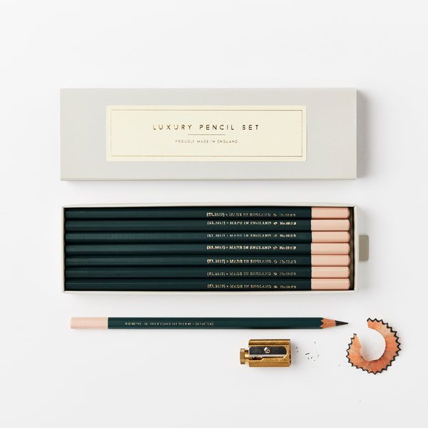 Katie Leamon Dark Green B Pencil Set