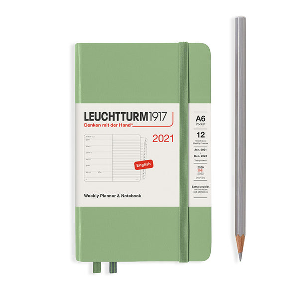 Leuchtturm 2021 Weekly Planner & Notebook - Pocket (A6) Hardcover
