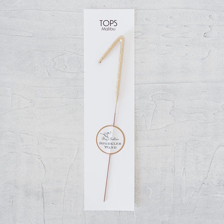 Gold Sparkler Wand - Numbers & Symbols