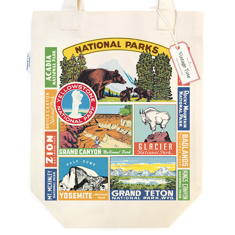 Cavallini & Co. National Parks Canvas Tote