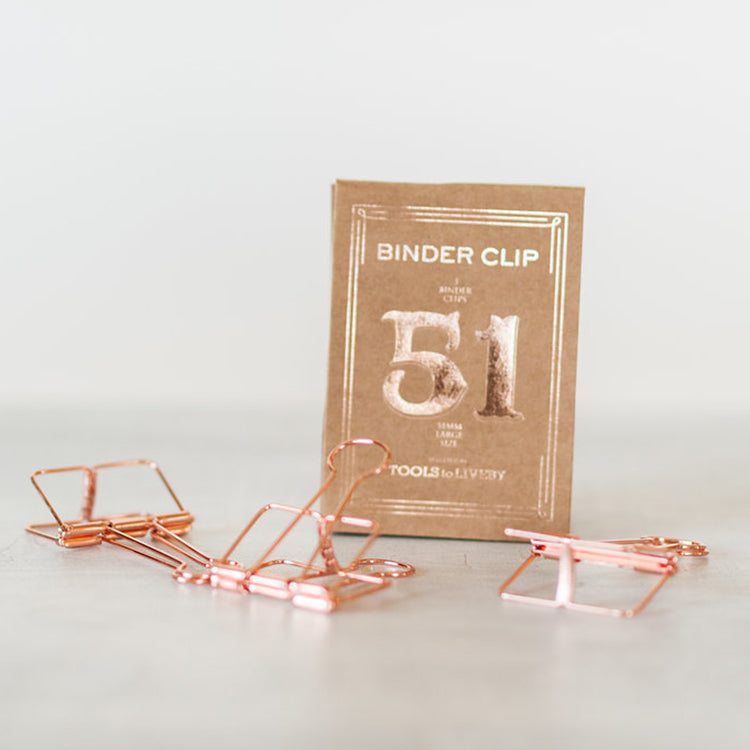 Tools to LiveBy Binder Clips 51mm Rose