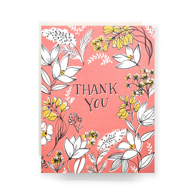 Floral Toile Thank You Set of 8