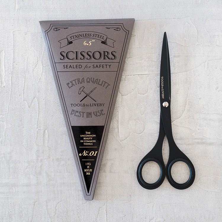 "Tools to LiveBy 6.5"" Black Scissors"
