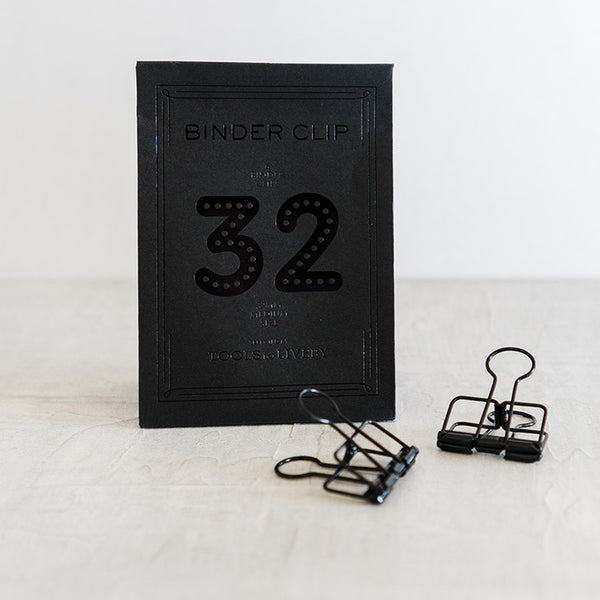 Tools to Liveby Binder Black Clips (32mm)