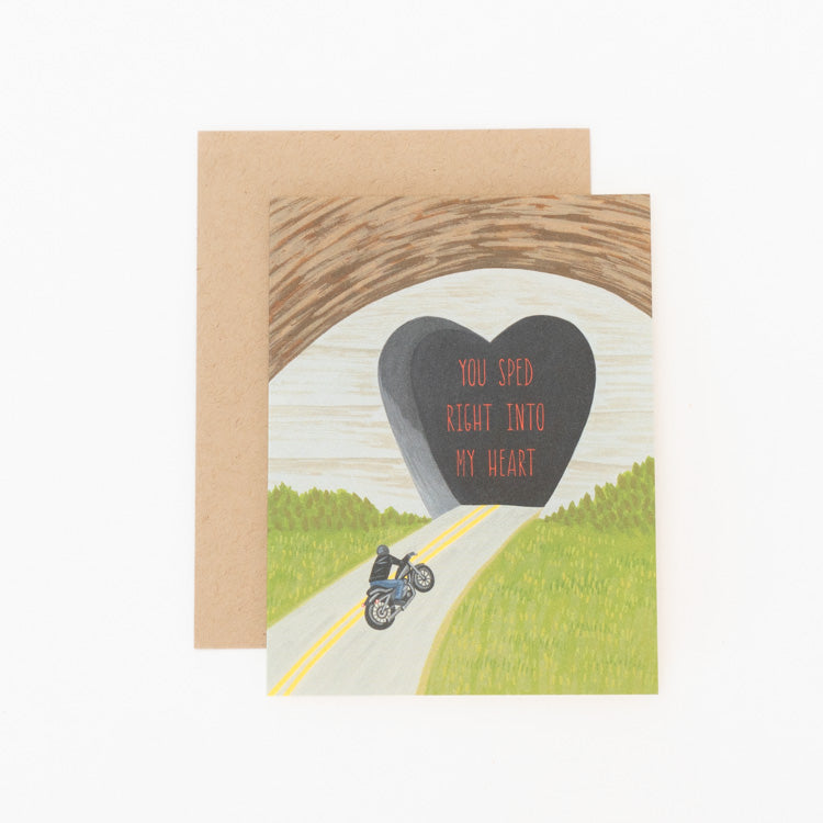 Sped Into My Heart Greeting Card