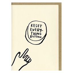 Reset Button Greeting Card