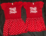 Black Girl Magic Poka Dot Dress (size 4)