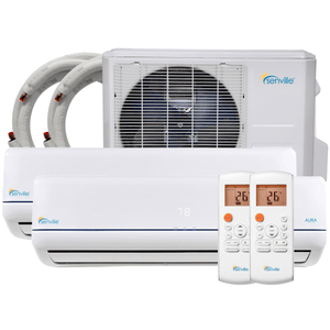 28000 BTU DUAL ZONE MINI SPLIT AIR CONDITIONER - HEAT PUMP - CoolingDiscount
