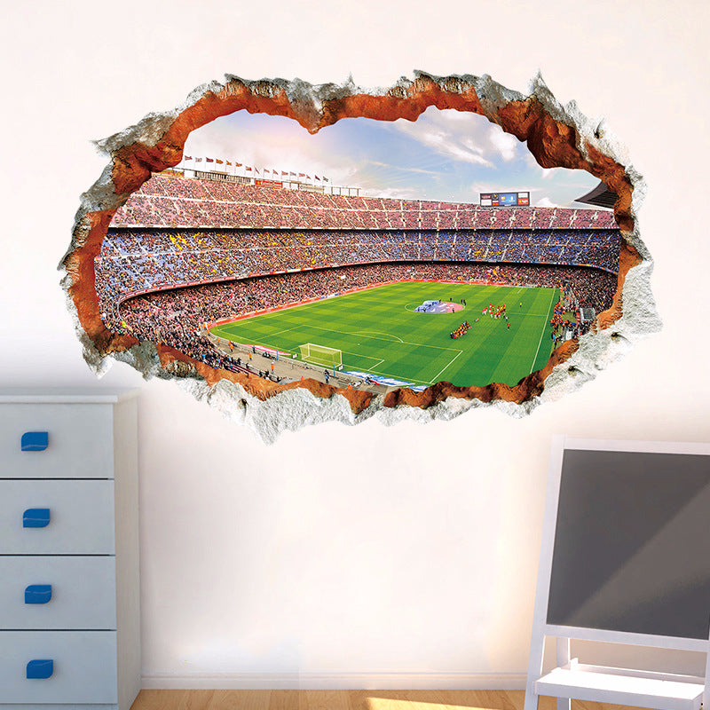 3D Football Stadium Decorative Wall Sticker