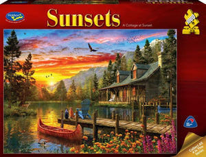 Holdson 1000pc A Cottage at Sunset