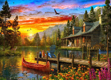 Load image into Gallery viewer, Holdson 1000pc A Cottage at Sunset
