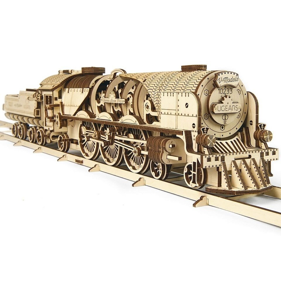 UGears V Express Steam Train with Tender