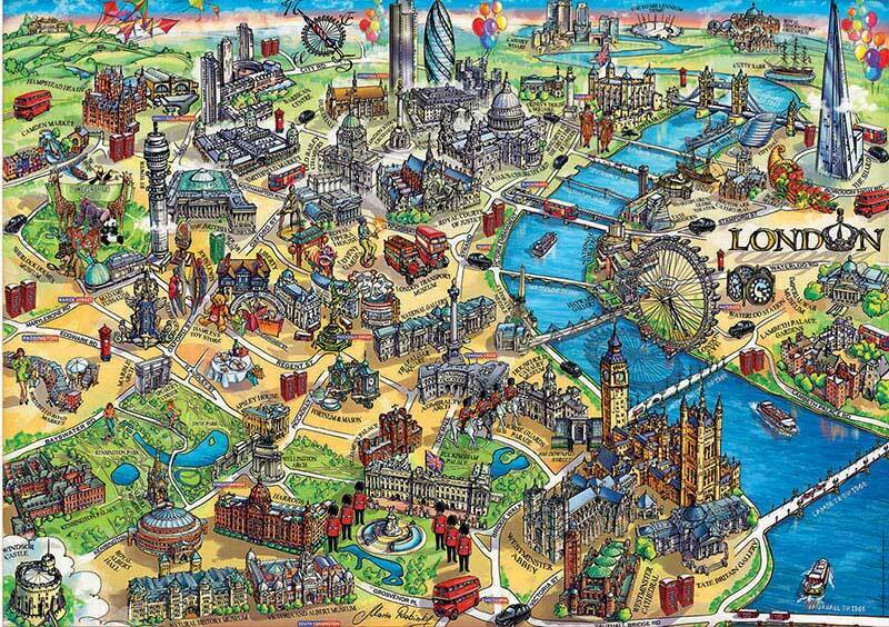 Educa 500pc London Map